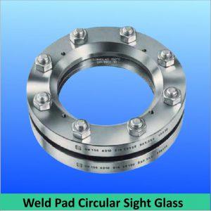 circular borosilicate toughened glass weld pad